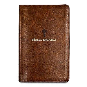 Bíblia Sagrada Acf - Capa Couro Soft Marrom