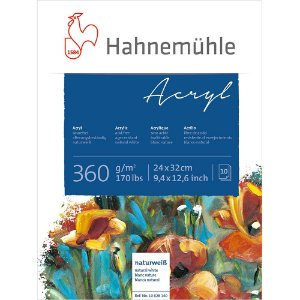 Bloco Acrílico Acryl Hahnemuhle 360g/m² 24x32cm 10 Folhas