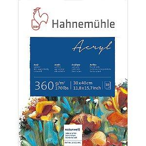 Bloco Acrílico Acryl Hahnemuhle 360g/m² 30x40cm 10 Folhas