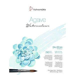 Bloco Agave Watercolour Hahnemuhle 24x32cm Textura Fina 290g/m² 12 Folhas