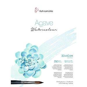 Bloco Agave Watercolour Hahnemuhle 30x40cm Textura Fina 290g/m² 12 Folhas