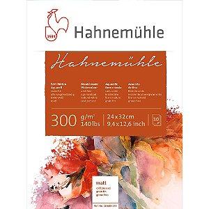 Bloco Aquarela Hahnemühle 24x32cm Cold Pressed 300g/m² 10 Fls