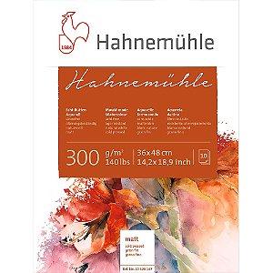 Bloco Aquarela Hahnemühle 36x48cm Cold Pressed 300g/m² 10 Fls