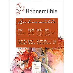 Bloco Aquarela Hahnemühle 30x40cm Rough 300g/m² 10 Fls