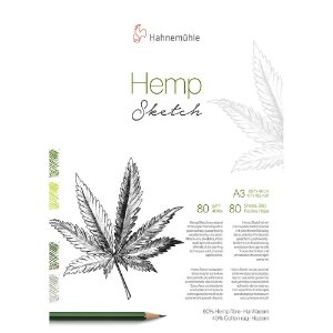 Bloco Hemp Sketch A3 80g/m² 80 Fls Hahnemuhle