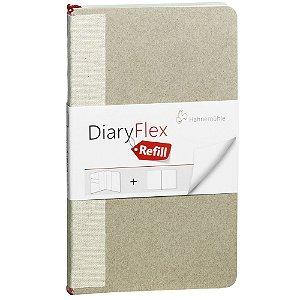 Refil Caderno Diary Flex Liso 18,2x10,4cm 100g/m² 80 Fls Hahnemuhle