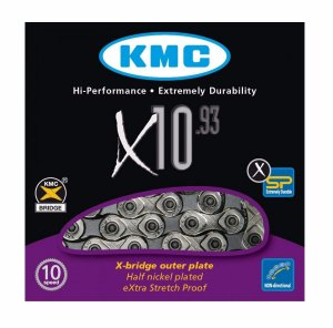 Corrente Kmc X10 Silver Prata 116 Elos Bike Mtb Speed