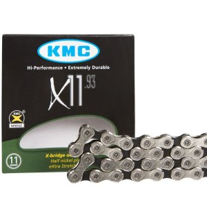 Corrente Kmc X11 Silver Prata 116 Elos Bike Mtb Speed