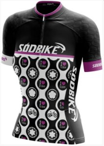camisa ciclismo love bike baby look fem tam gg curta ziper full