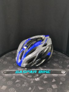 CAPACETE OUT MOLD COM LED PRETO/AZUL SOUTH G