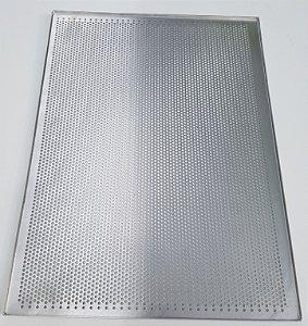 Forma Alumínio PÃO FURADA (33x45x0,5 cm)
