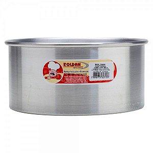 Forma Alumínio REDONDA FUNDO FIXO - 20X8cm