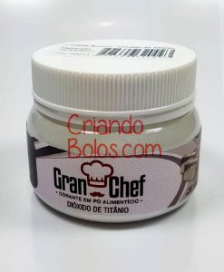 Corante ALIMENTÍCIO BRANCO (Dióxido de Titânio) - 100g