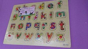 JOGO: Alfabeto Encaixe com Pino