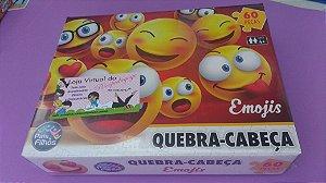 Quebra Cabeça 100 peças (Emojis)