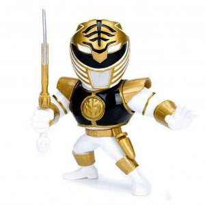 "Metals Die Cast - Ranger Branco - Power Rangers - 4"" - Jada Toys"