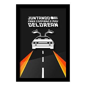 Quadro Geek - Porta Dinheiro - Delorean - Beek