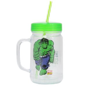 Copo Jarra - 500mL - Hulk - Marvel