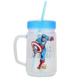 Copo Jarra - 500mL - Capitão América - Marvel