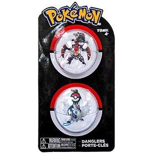 Chaveiros Pokemon - Mega Garchomp e Mega Absol - Tomy