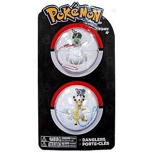 Chaveiros Pokemon - Mega Gardevoir e Mega Ampharos - Tomy