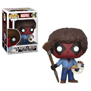 Funko Pop Deadpool Parody - Deadpool com Bob Ross - Marvel #319