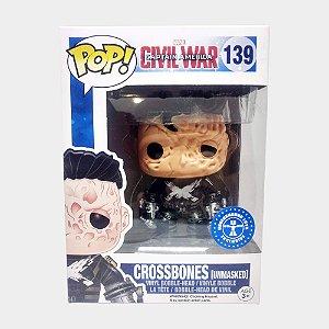 Funko Pop Marvel Crossbones - Unmasked - Capitão América - Guerra Civil #139 Exclusivo