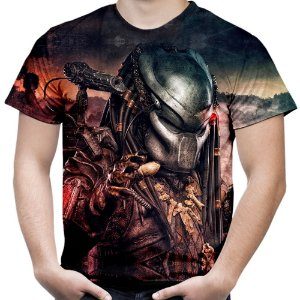Camiseta Masculina Predador Estampa Digital Md02