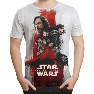Camiseta Masculina Star Wars VIII 8 MD04