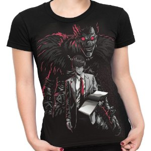 Camiseta Baby Look Feminina Death Note Ryuk Light Turner Md2