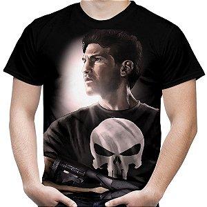 Camiseta Masculina Justiceiro Estampa Total