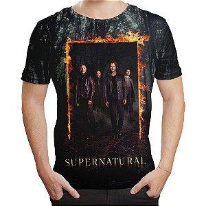Camiseta Masculina Serie Supernatural Sobrenatural Md05