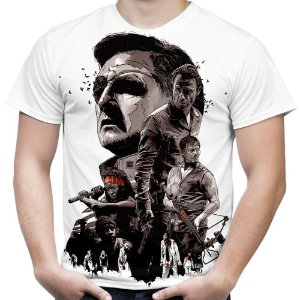 Camiseta Masculina The Walking Dead Estampa Total Md01