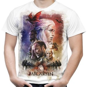 Camiseta Masculina Game of Thrones Last Targaryen Estampa Total