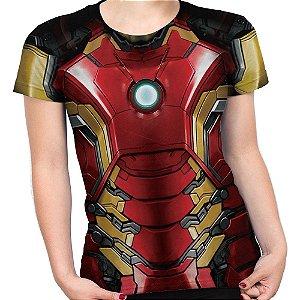 Baby Look Feminina Iron Man Homem De Ferro Md03