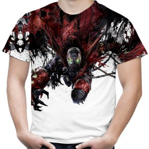Camiseta Masculina Spawn  Estampa Total MD01