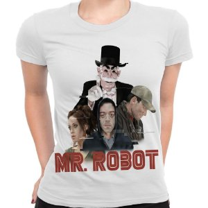 Baby look Feminina Mr. Robot Estampa Total Md03