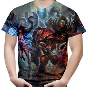 Camiseta Masculina League of Legends Estampa Total Md01