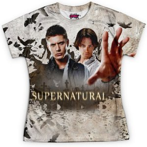 Baby look Feminina Supernatural Estampa Total Md07