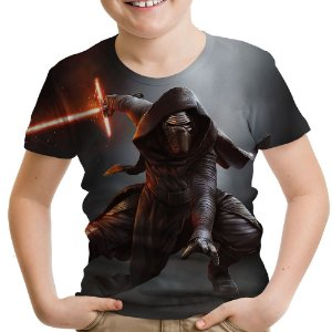 Camiseta Infantil Kylo Ren Star Wars Estampa Total Md04