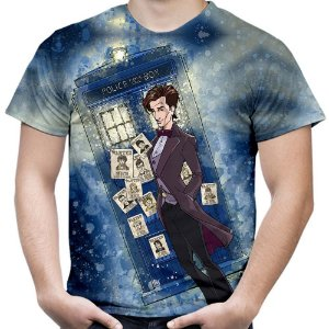 Camiseta Masculina Doctor Who Estampa Total Md06