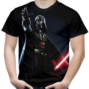 Camiseta Masculina Darth Vader Star Wars Estampa Total Md02
