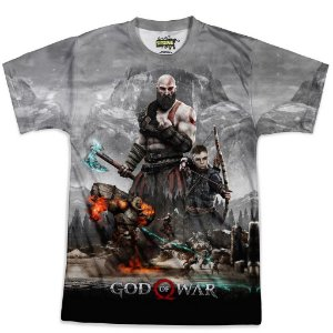 Camiseta Masculina God of War Md01