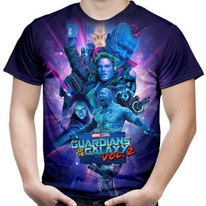 Camiseta Masculina Guardiões Da Galáxia Vol2 Total Print Md5
