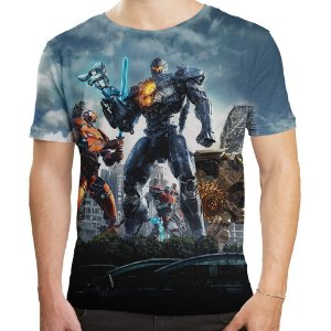 Camiseta Masculina Círculo de Fogo Pacific Rim Md02