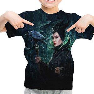 Camiseta Infantil Malévola Estampa Total