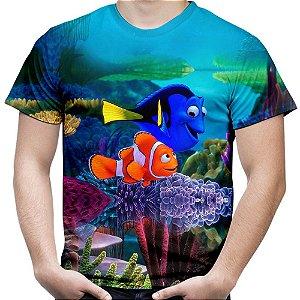 Camiseta Masculina Filme Procurando Nemo Animação Md02