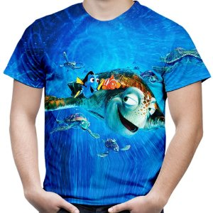 Camiseta Masculina Filme Procurando Nemo Animação Md01