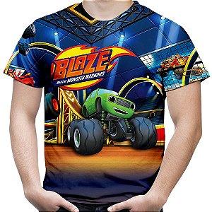 Camiseta Masculina Blaze And The Monster Machines