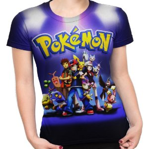 Baby look Feminina Pokemon Estampa Total MD03